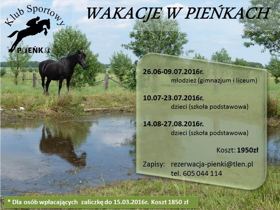 Wakacje w Pieńkach 2016