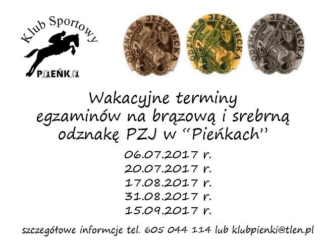 Odznaki PZJ w KS Pieńki